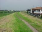 園田 アパート近くの藻川堤防写真