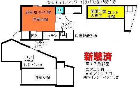 ロフト付きアパート間取り図