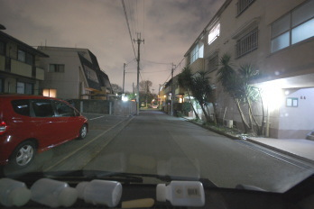 夜のアパート駅までの道 始まり