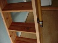 リフトの階段 緩い傾斜 上からの写真