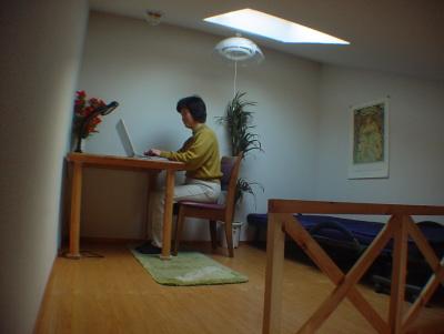 ロフト付きアパート例3ロフトで勉強