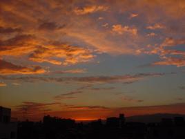 六甲の夕日
